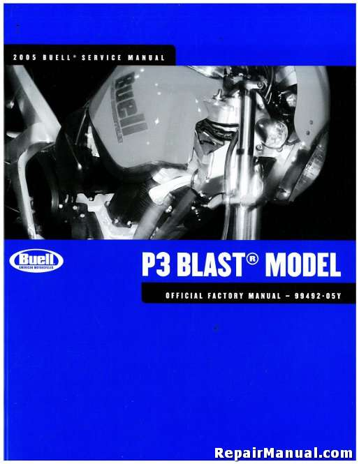 2005 buell p3 blast motorcycle service manual