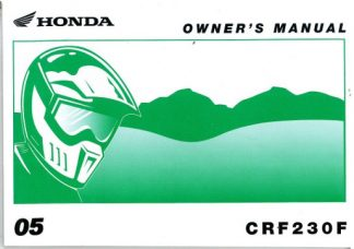 Official 2005 Honda CRF230F Owners Manual
