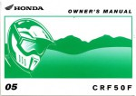 Official 2005 Honda CRF50F Owners Manual