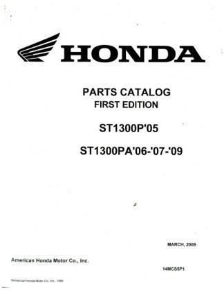 Official 2005 Honda ST1300P 2006-2009 ST1300PA Factory Parts Manual