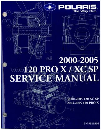 Official 2005 Polaris 120 Pro X Snowmobile Factory Service Manual
