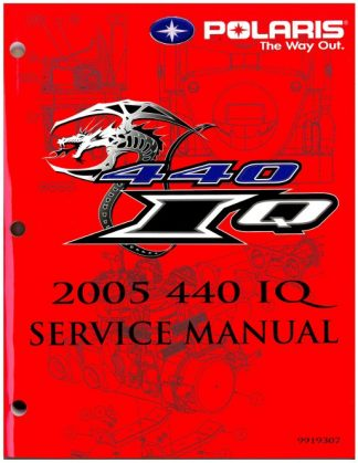 Official 2005 Polaris 440 IQ Snowmobile Factory Service Manual