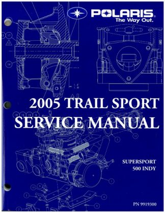 2005 Polaris Indy Supersport Edge Touring Snowmobile Service Manual