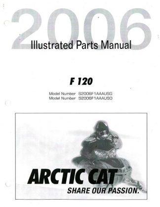 Official 2006 Arctic Cat Y-12 Youth 90 ATV Factory Parts Manual