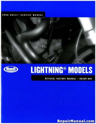 Official 2006 Buell Lightning Motorcycle Service Manual