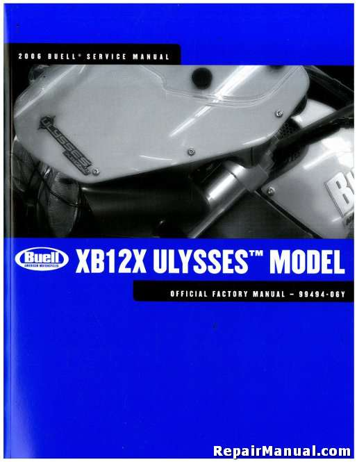2006 buell xb12x ulysses motorcycle service manual rh repairmanual com buell service manuals pdf buell x1 service manual