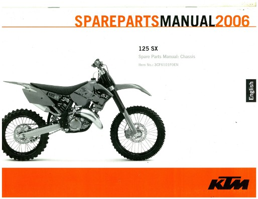 2006 ktm 125 sx chassis spare parts manual
