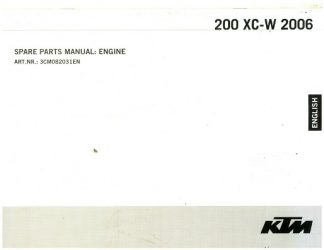 Official 2006 KTM 200 XC-W Engine Spare Parts Manual