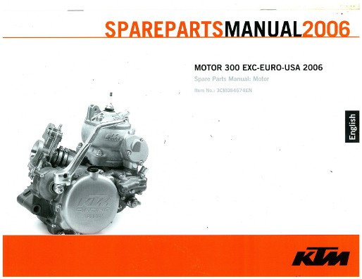 2006 ktm 300 exc egnine spare parts manual rh repairmanual com 2006 KTM 400 EXC ktm 300 manual 2006