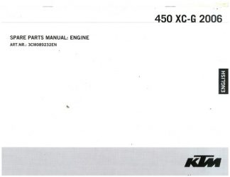 Official 2006 KTM 450 XC-G Engine Spare Parts Manual