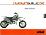 Official 2006 KTM 50 Mini Adventure Chassis Spare Parts Manual