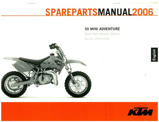 2006 ktm 50 mini adventure chassis spare parts manual rh repairmanual com ktm 50 service manual pdf ktm sx 50 service manual