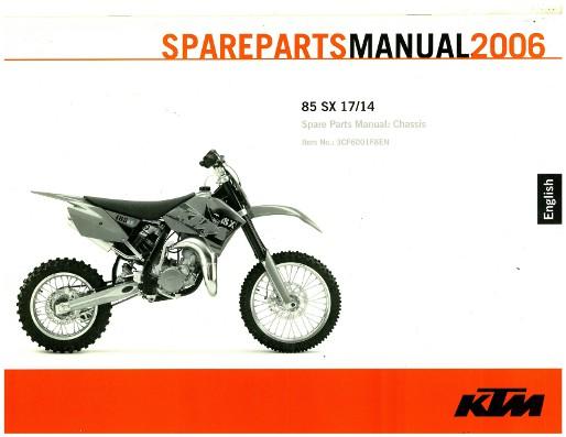 2006 ktm 85 sx chassis spare parts manual rh repairmanual com KTM 65 2017 KTM 85