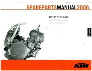 2004-2006 ktm 85sx 105sx engine repair manual paper.
