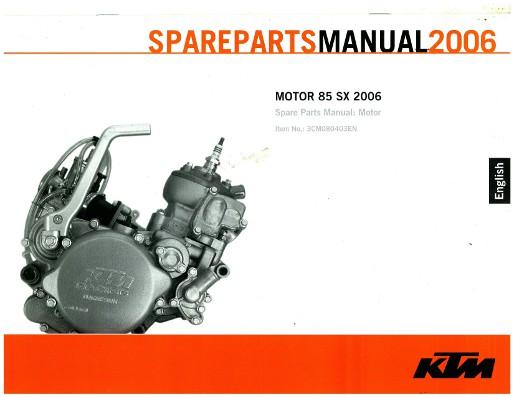 2006 ktm 85 sx engine spare parts manual rh repairmanual com RM 85 2012 KTM 85