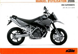 Official 2006 KTM 950 Supermoto Owners Manual Paper In French