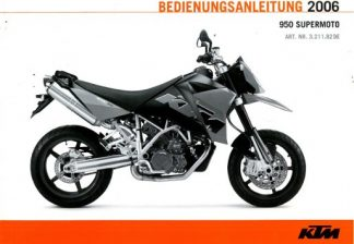 Official 2006 KTM 950 Supermoto Owners Manual Paper In German