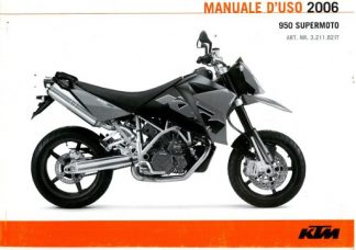 Official 2006 KTM 950 Supermoto Owners Manual Paper In Italian