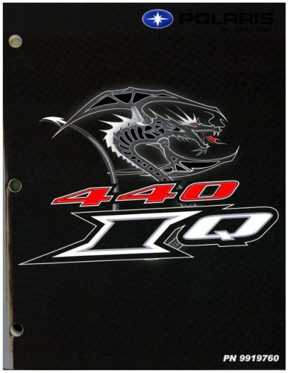 Official 2006 Polaris 440 IQ Snowmobile Factory Service Manual
