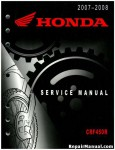 Official 2007-2008 Honda CRF450R Factory Service Manual