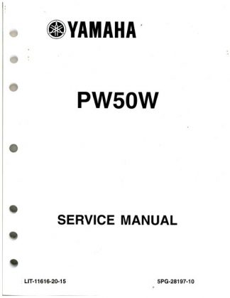 2007 2009 and 2012 2013 yamaha pw50 motorcycle service manual rh repairmanual com Auto Shop Manuals Auto Shop Manuals