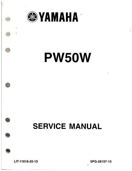 2007  u2013 2009 and 2012  u2013 2013 yamaha pw50 motorcycle service