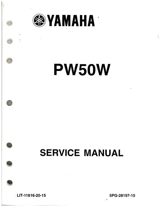 Used 2007 2009 And 2012 Yamaha Pw50 Motorcycle Service Manual