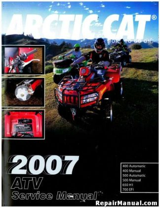 2007 Arctic Cat 400 500 650 700 ATV Factory Service Manual