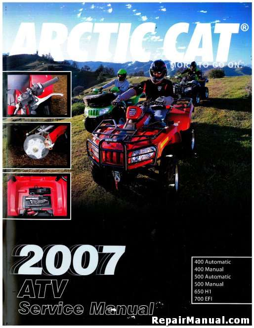 2007 arctic cat 400 500 650 700 atv service manual rh repairmanual com 2007 arctic cat atv owners manual pdf 2007 arctic cat atv owners manual