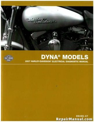 Official 2007 Harley Davidson Dyna Electrical Diagnostic Manual