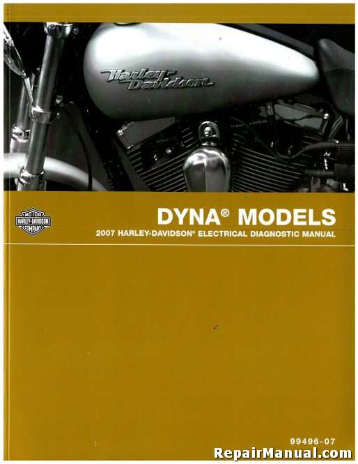 2007 Harley Davidson Dyna Motorcycle Electrical Diagnostic Manual on