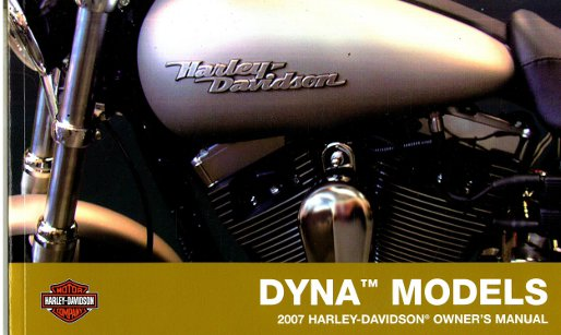 2007 harley davidson dyna motorcycle owners manual. Black Bedroom Furniture Sets. Home Design Ideas