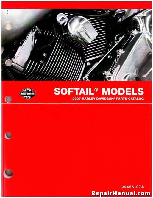2007 Harley Davidson Softail Motorcycle Parts Manual