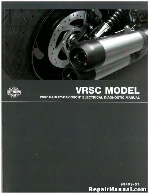 2007 Harley Davidson VRSC Motorcycle Electrical Diagnostic Manual on