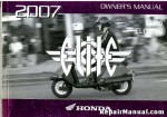 Official 2007 Honda CH80 Elite Factory Owners Manual