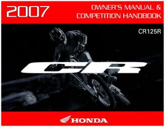 Official 2007 Honda CR125R Owners Manual