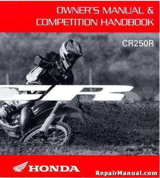 Official 2007 Honda CR250R Owners Manual