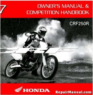 Official 2007 Honda CRF250R Owners Manual