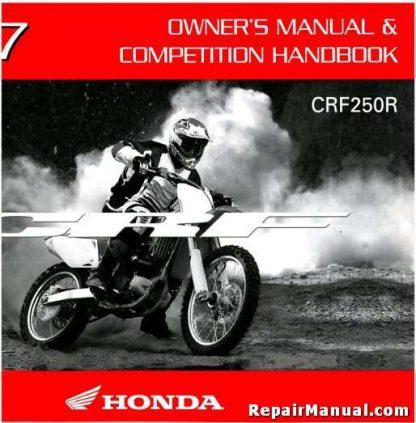 Official 2007 Honda CRF250R Owners Manual