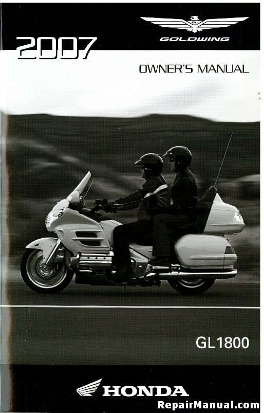 2007 honda gl1800 gold wing motorcycle owners manual rh repairmanual com 2002 Goldwing 2007 goldwing service manual