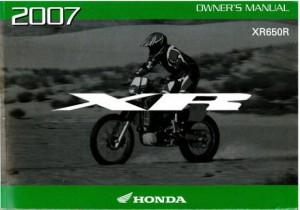 Manual for honda 2001 xr650r