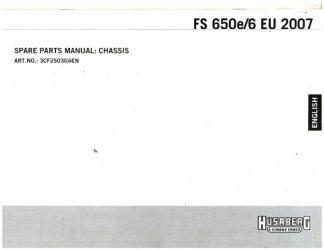 Official 2007 Husaberg FS 650E/6 EU Chassis Parts Manual