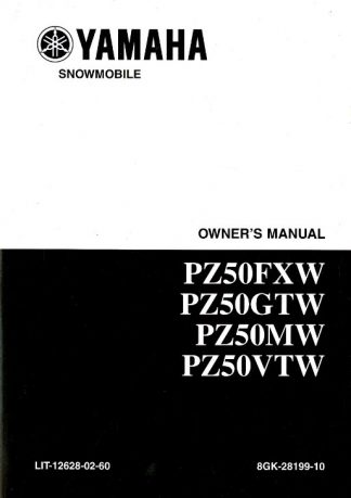 Official 2007 Phazer FX Yamaha PZ50FXW and PZ50GTW Snowmobile Owners Manual