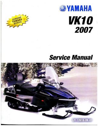 Official 2007-2012 Yamaha VK Professional VK10 Snowmobile Factory Service Manual