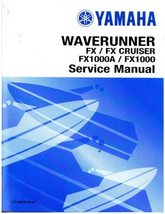 Official 2007 Yamaha FX FX1000F and 2007 Yamaha FX Cruiser FX1000AF Factory Service Manual