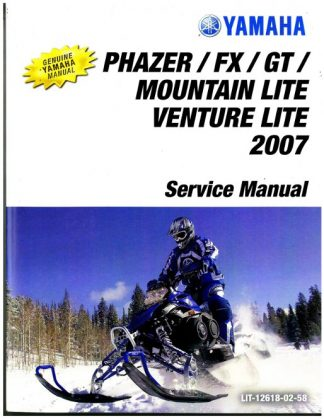Official 2007 Yamaha Phazer Venture Lite PZ50 Snowmobile Factory Service Manual