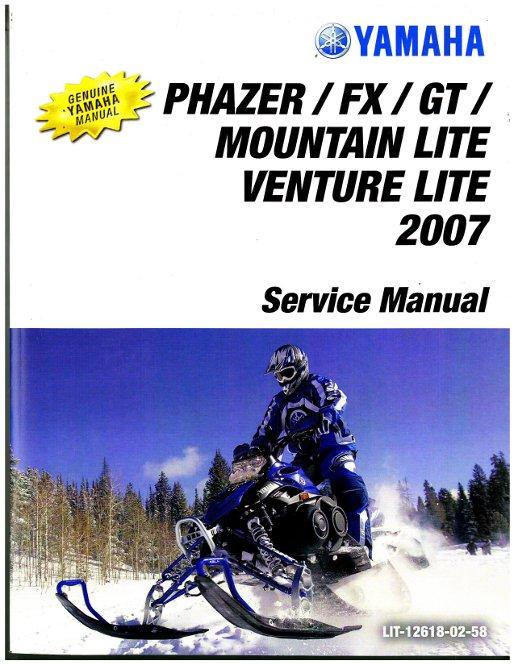 2007 yamaha phazer venture lite pz50 snowmobile service manual. Black Bedroom Furniture Sets. Home Design Ideas