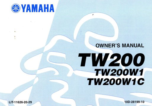 tw200 repair manual