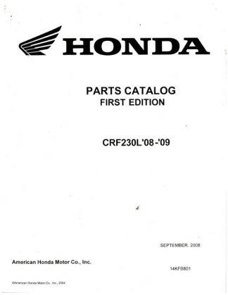 Official 2008-2009 Honda CRF230L Factory Parts Manual