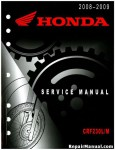 Official 2008-2009 Honda CRF230L M Factory Service Manual